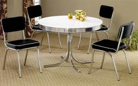 Buddy Collection 2388 White Contemporary Dining Table Set