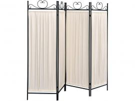 Four Panel Screen with Beige and Black Finish By Coaster 2710