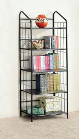 Peter Collection 2895 Small Black Metal Bookcase