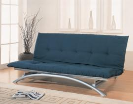 Jetson Collection 300008 Silver Metal Futon