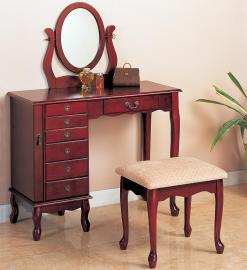 Cherry Finish 300073 Vanity Collection