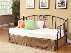 300099 Black Twin Metal Day Bed by Coaster