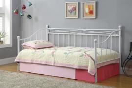 300109 White Twin Metal Day Bed by Coaster