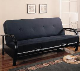 Bruce Collection 300159 Black Metal Futon