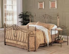 Sydney 300171F Full Metal Bed headboard and footboard finished in hand-brushed antique gold