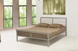 Logan 300201F Full Metal Bed finished in silver