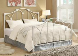 Scarlett 300257F Full Metal Bed headboard and footboard finished white