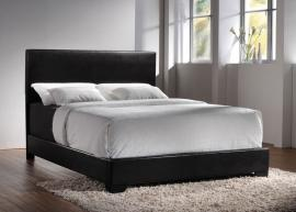Conner 300260F Full Bed upholstered in black leatherette