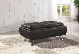 Black Leatherette 300283 Storage Ottoman