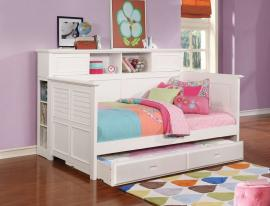 Twin Daybed with Trundle Option 300590 finished in white