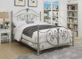 Evita 300608KW California King metal bed finished in chrome