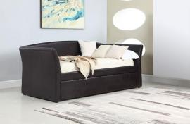 Shelley Collection 300632 Brown Leatherette Daybed with Trundle