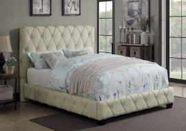 Elsinore 300684F Full Bed upholstered in beige fabric