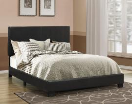 Dorian 300761KW California King Upholstered Bed Frame in Black Leatherette