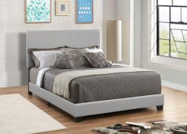 Dorian 300763F Full Upholstered Bed Frame In Grey Leatherette