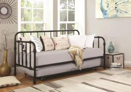 Steinfield Collection 300765 Black Metal Twin Daybed with Trundle