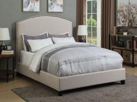 Cantillo 301092KE Eastern King Bed upholstered in oatmeal fabric