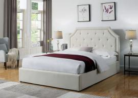Hermosa 301469T Twin Upholstered Bed In Beige Fabric