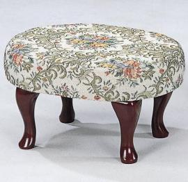 Floral Print with Merlot Finish Stool by Coaster 3422