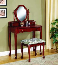Cherry Finish 3441 Vanity Collection