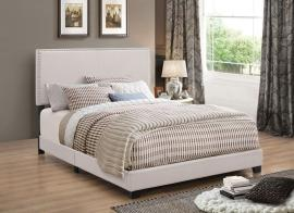 Boyd 350051KW California King Upholstered Ivory Fabric Bed Frame