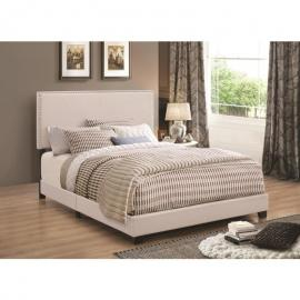 Boyd 350051T Twin Upholstered Ivory Fabric Bed Frame