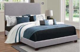 Boyd 350071T Twin Upholstered Grey Fabric Bed Frame