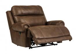 Austere Gray by Ashley 3840082 Power Wide Recliner