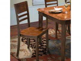 Latitudes 40-150-22T Chestnut Dining Height Chair Set of 2