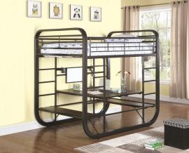 Twin Over Full Full Loft Bunk Bed With Stairs Trundle Desk White For