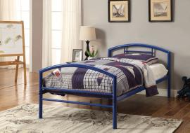 Baines Collection 400029T Blue Metal Twin Bed Frame