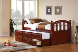 Twin Captain's bed with trundle 400381T
