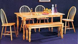 Rochester Collection 4361 Country Dining Table Set