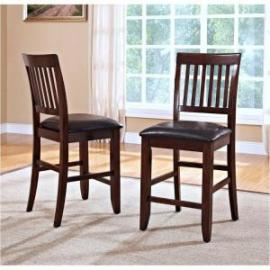 Kaylee 45-101-20 Tudor Brown Counter Height Chair Set of 2