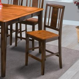 Latitudes 45-150-21T Chestnut Counter Height Chair Set of 2