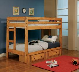 Europa Collection 460243 Twin Twin Storage Bunk Bed