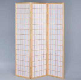 Three Panel Screen with White Rice Paper By Coaster 4621