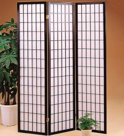 Three Panel Screen with White Rice Paper By Coaster 4622