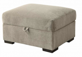 Taupe Fabric Ottoman 500085 by Coaster
