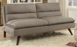 Crastor Collection 500320 Taupe Channeled Pillow-Top Futon