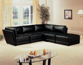 Zachary Collection 500891 Black Modular Sectional Sofa