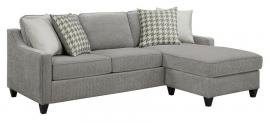 Montgomery by Scott Living 501697 Charcoal Chevron Dobby Fabric Sectional