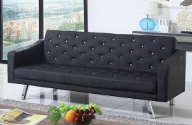 Daney Collection 503898 Crystal Button Tufted Futon