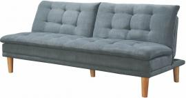 Hopper Collection 503956 Tufted Split Back Grey Futon