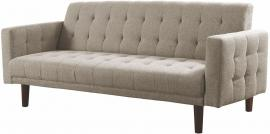 Douglas Collection 503976 Light Taupe Tufted Futon
