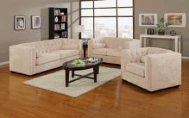 Alexis Collection 504391 Tufted Back Sofa & Loveseat Set