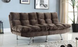 Helms Collection 505127 Cushioned Brown Velvet Futon