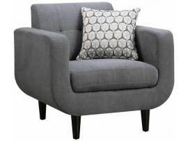 Stansall Collection by Coaster 505203 Grey Linen Fabric Chair