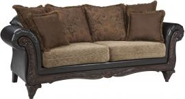 Garroway Collection by Coaster 505231 Russet Chocolate Fabric Sofa