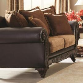 Garroway Collection by Coaster 505232 Russet Chocolate Fabric Loveseat